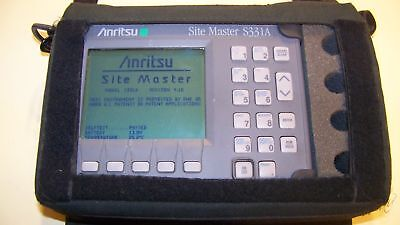 Nice Anritsu S331A Site Master with case and New Battery & Charger Fully Tested!