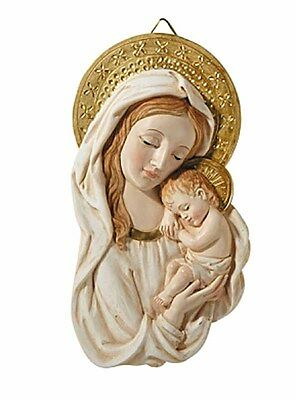 Madonna and Child Plaque Caress (WC342A) NEW Virgin Mary