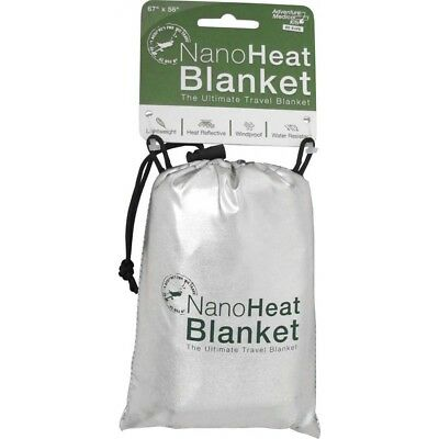 Medical Kits Nanoheat Water-Resistant Travel Blanket, Free Police Whistle