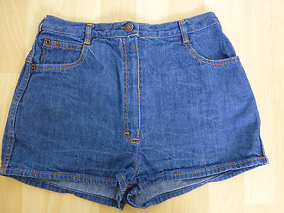 Original Vintage 1970's Denim Shorts UK 8 St Michael M&S Summer Holiday Festival