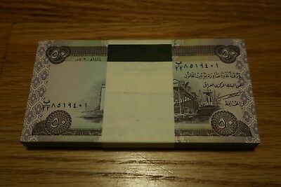 100 X 50 New Iraqi Dinar 5000 IRAQ Currency MONEY IQD BANK NOTES UNCIRCULATED