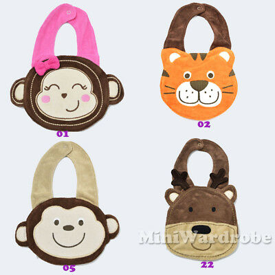Baby Kids Infant Animal Boy Girl Toddler Feeding Waterproof Party Gift Bibs