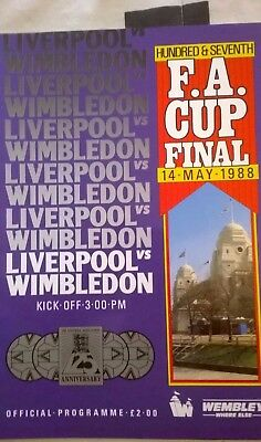 1988 FA Cup Final Programme - Liverpool v Wimbledon (Near Mint Condition)