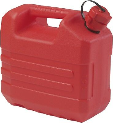 10 Litre Jerry Can. 10 Litre Red Petrol Can with Nozzle Made in France