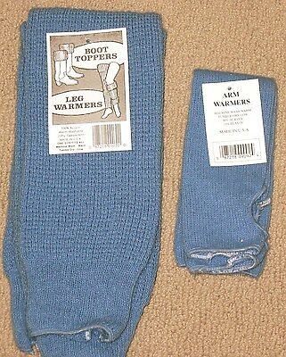 Carolina Blue   Arm & matching leg Warmers made in USA  NWt  FREE S/H