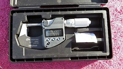"Mitutoyo *mint* 293-348-30 0-1"" Digital Outside Micrometer!"