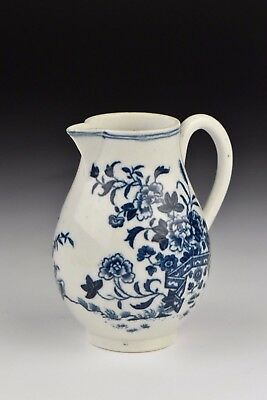 Small 18th Century Dr. Wall Worcester Porcelain Cream Jug w/ Flowers