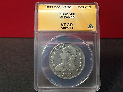 1832 Bust Half Dollar ANACS VF20 Details~Nice Looking Coin
