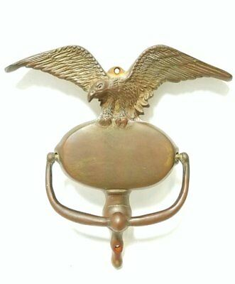 Antique Bronze American Bald Eagle Door Knocker Circa 1800's