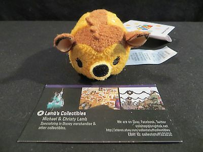 """Disney Store Authentic Bambi from Bambi series butterfly on back tsum tsum 3.5"""""""