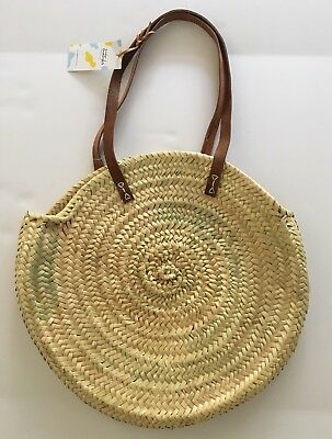 Madewell Indigo&lavender Large Lucena Shopper Basket  Straw Bag
