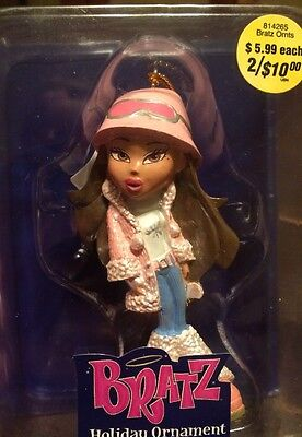 BRATZ-Passion for Fashion-Stylin' Holiday Ornament-Brunette-Pink-MINT IN BOX NIB