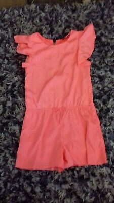 Beautiful YD Bright Orange Playsuit, Age 11-12, OnlyWorn Once