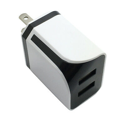 Dual USB Ports Home Wall Travel AC Power Charger Adapter For Samsung US PLUG NEW