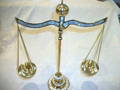 "Brass Weighing Scale Balance Justice Law, Decoration New 16"" Handmade in India"