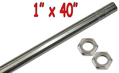 "1"" x 40"" Live Rear Axle w/ Lock Nuts Go Kart Off Road Cart Drift Trike Parts"