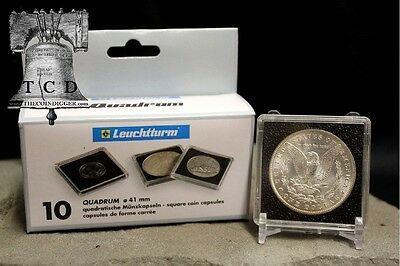5 Peace Silver Dollar 2x2 Coin Holder Snap Capsule 38mm Lighthouse QUADRUM Case