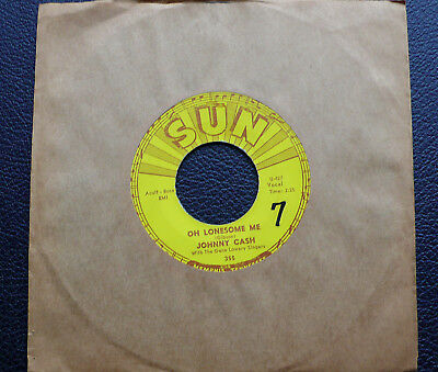 """7"""" Johnny Cash - Oh Lonesome Me/ Life Goes On - US SUN 355"""