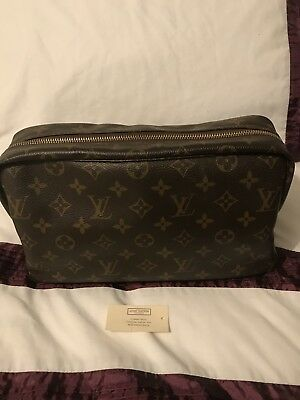 100% Authentic Louis Vuitton Monogram Canvas Toiletry Bag