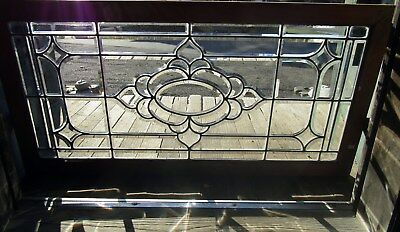 Antique Beveled Glass Window - 21 By 42