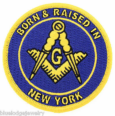 Master Mason Born And Raised in New York Masonic Patch