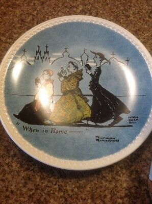 Norman Rockwell's On Tour Collector Plate WHEN IN ROME___ w/STORY NIB & COA 1982