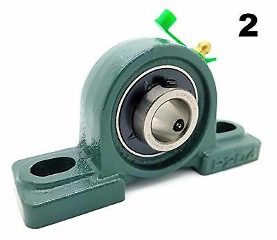 """Two (2) UCP204-12 Cast Iron Pillow Block Mounted Bearings - 3/4"""" Inch Inside ..."""
