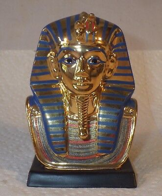 Franklin Mint 1989 Treasures Of King Tut Figurine Mint Cond Gold Funerary Mask
