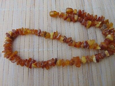 Natural Egg Yolk Honey Butterscotch Baltic RAW Amber stones beads Necklace