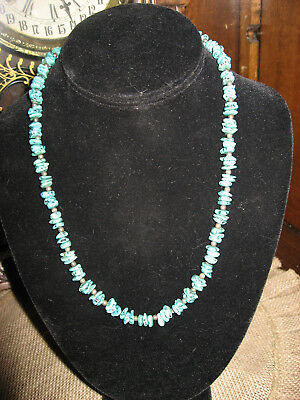 Vintage Old Native American Turquoise Nugged Necklace
