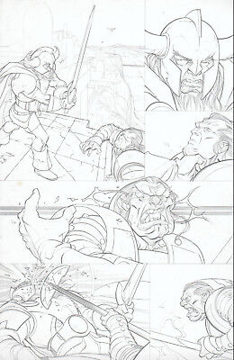 THOR 614 pg original art by PASQUAL FERRY Marvel Comics