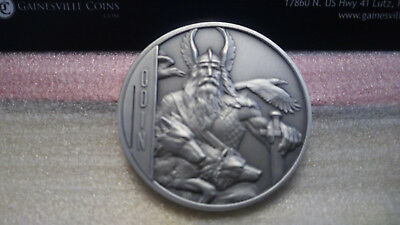 Odin 2oz Ultra High Relief Siver Coin $5 Niue - Antique Finish - Heidi Wastweet