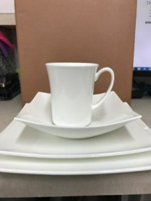 Nevaeh White By Fits And Floyd Fine Bone China - Hard Square