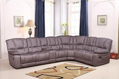 Betsy Furniture Large Microfiber Reclining Sectional Living Room