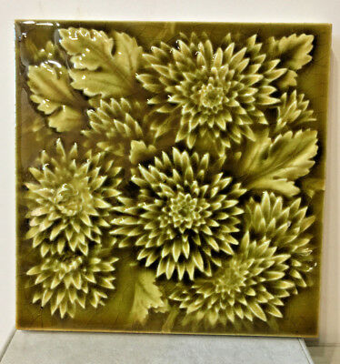 Antique Providential Victorian Majolica Art Tile