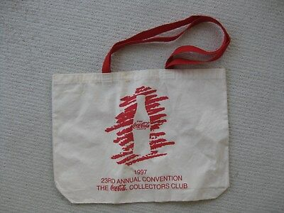 1997 Coca Cola Collectors Club Canvas Tote Bag