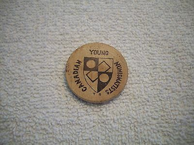 1973 Canada Wooden Nickel Young Canadian Numismatists