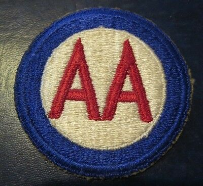 "Vintage Ww2 2 1/2"" Used Anti-Aircraft Patch  Usa"