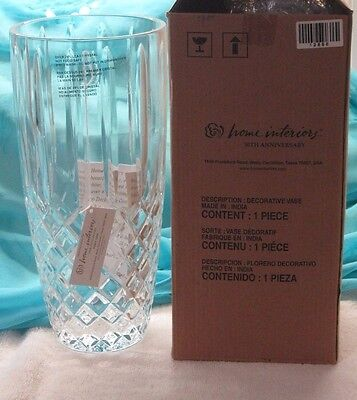 Brand New in the Box Home Interior Lead Crystal 50th anniversary Decorative Vase