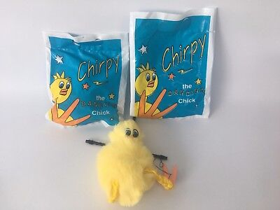 2 x Sydney Royal Easter Show Toy, Chirpy the Dancing Chick Puppet 1998