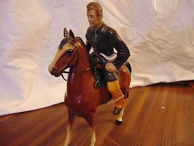 Vintage 1950's Hartland Jim Bowie and His Bay Horse   - FREE SHIP!