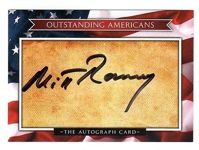 MITT ROMNEY Signed Outstanding Americans Card - Autograph Auto