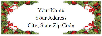 Holiday Return Label Christmas Decorations 30 Custom Address Mailing Labels