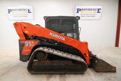 Kubota Svl90-2Hfc Skid Steer Track Loader, Cab, Ac/heat, High Flow!