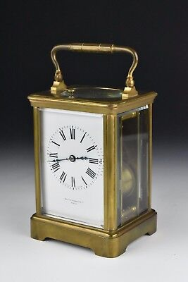 13 Jewel Charles Hour French Repeater Carriage Clock Bigelow Kennard & Co Boston