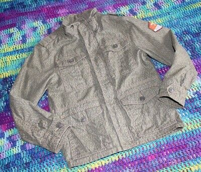 Boys H&M L.O.G.G  Coat, Jacket, Camo, Cargo Pockets, COOL, EUC, Size 8-9Y