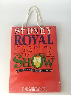 Royal Easter Show Red Glossy Paper Promotional Bag with handle
