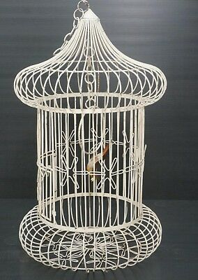 Large Vintage Very Ornate & Unique Iron Bird Cage Free Shipping !!! Must See !!!