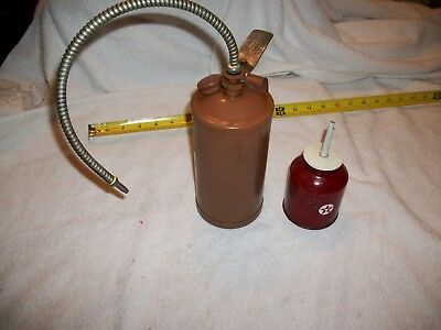 OIL CAN DISPENSERS lot of 2 , antique oil cans, vintage cans