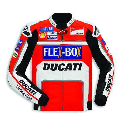 Limited Edition Ducati MotoGP Team Livery 17 Leather Jacket by Alpinestars